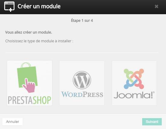choisissez WordPress