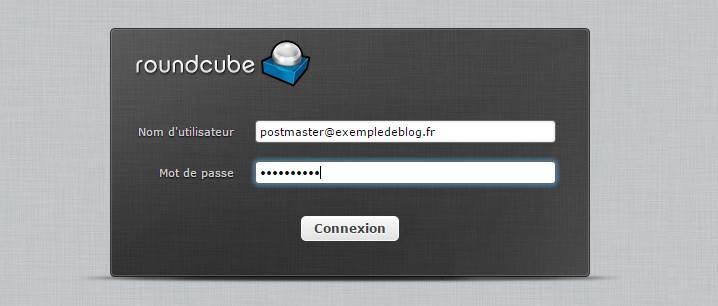 entrez votre code roundcube