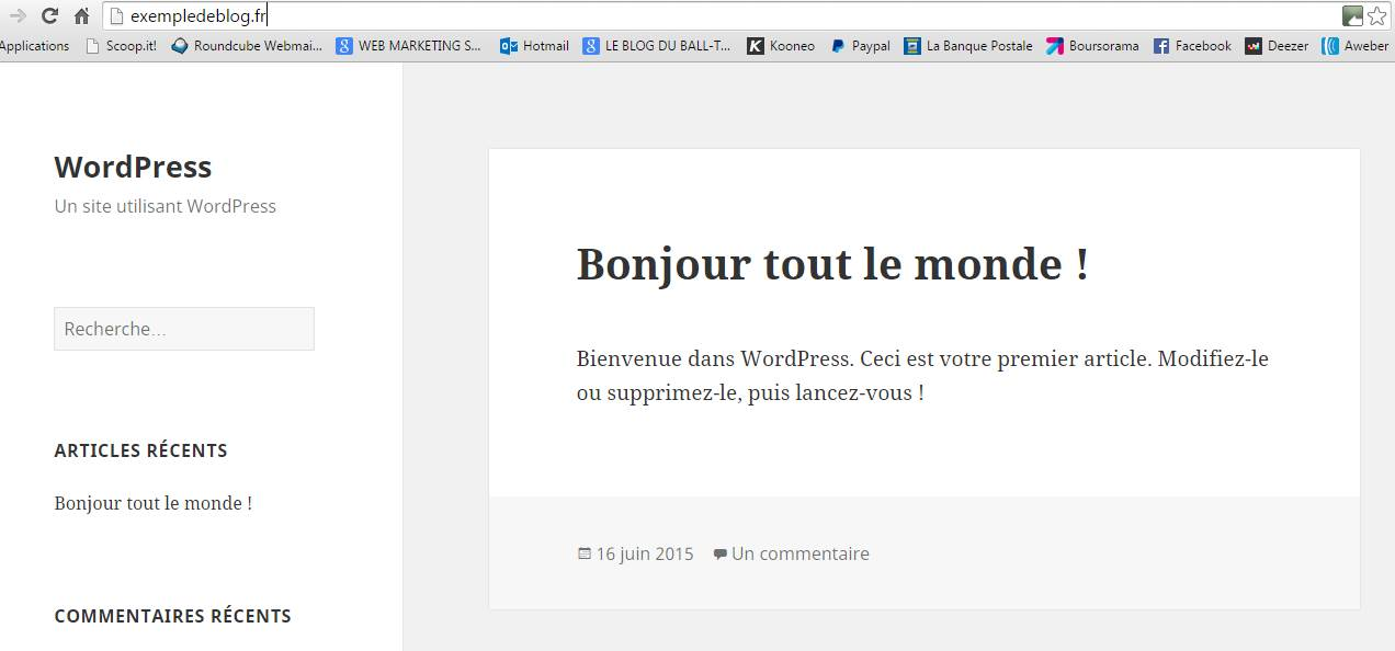 votre premier theme wordpress