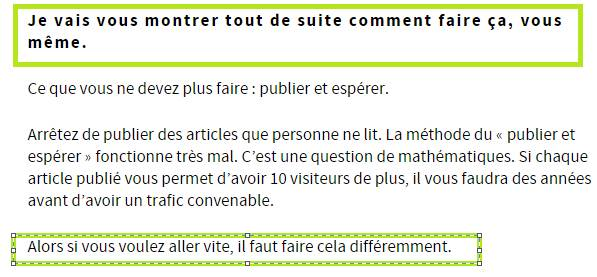 comment faire une transition pour rendre son article plus efficace