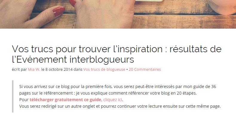 evenement interblogueur