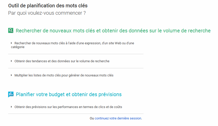 trouver sa iche marketing avec le google keyword planner