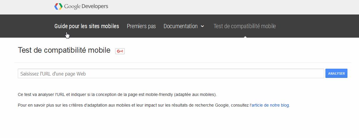 voir si votre site est responsive