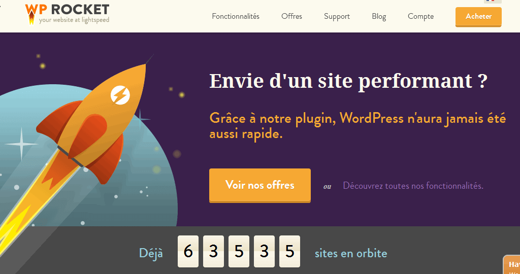 un excellent plugin de cahce, wp rocket