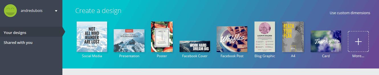 créer vos images pour les réseaux sociaux