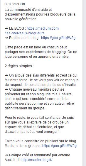 description Les Nouveaux Blogueurs