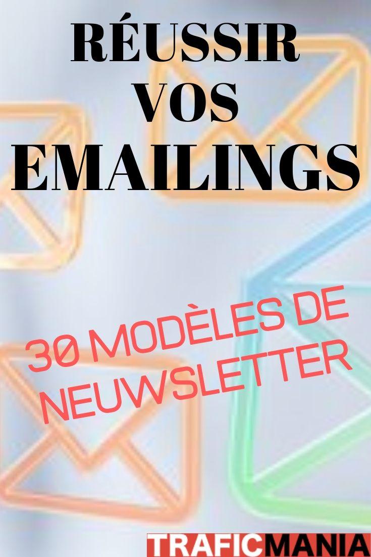 39 Modèles De Newsletter à Recopier Pour Réussir Vos