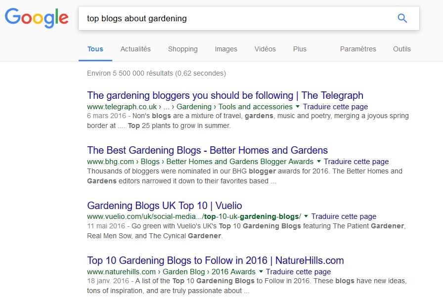 trouver des blogs populaires dans sa thématique