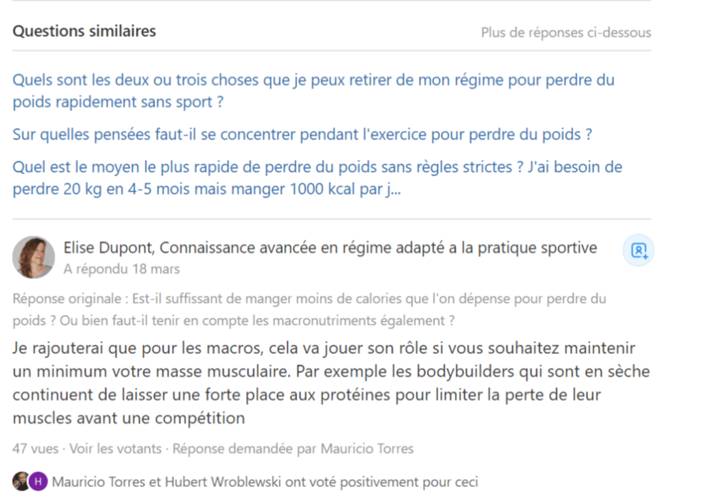 questions similaires quora