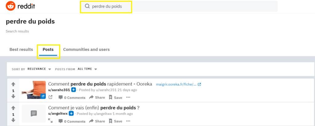reddit pour rechercher problèmes audience