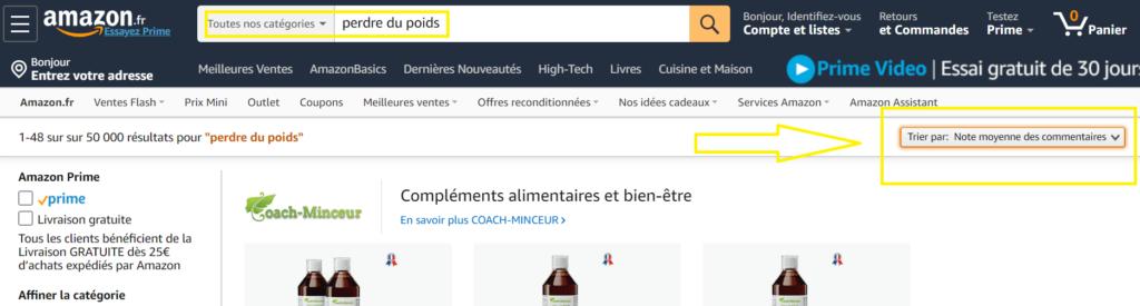 page d'accueil Amazon