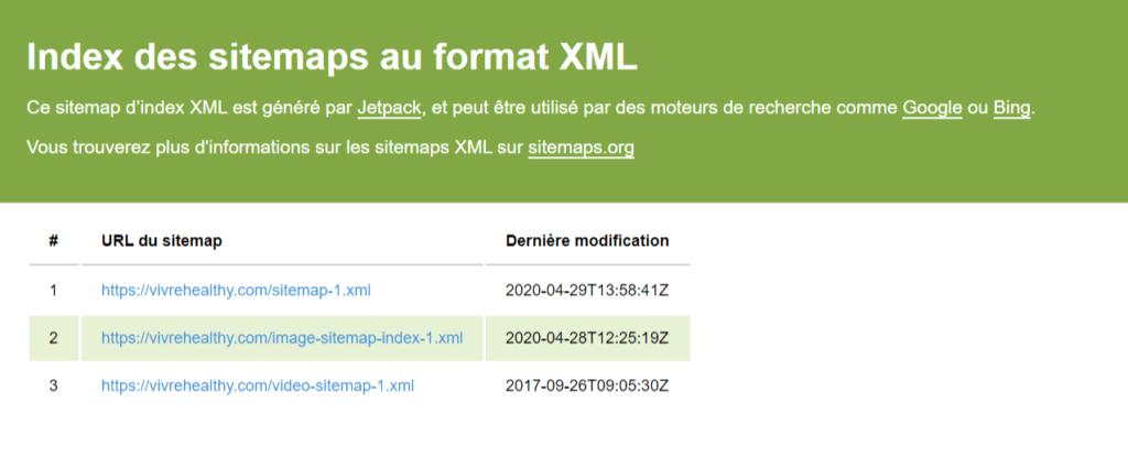 fichier sitemaps xml